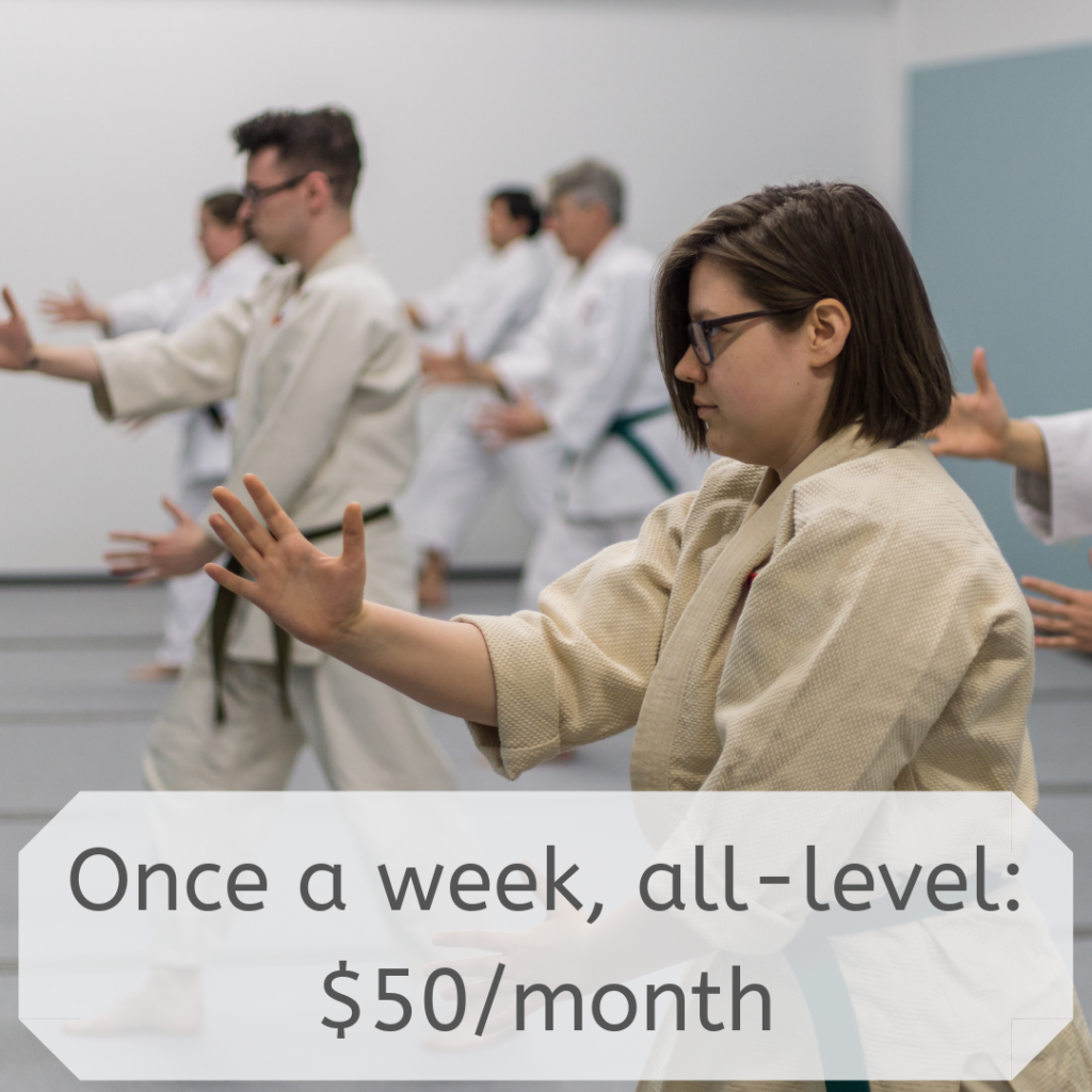 Once a week, all-level: $50/month